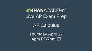 Download Khan Academy Live: AP Calculus Video
