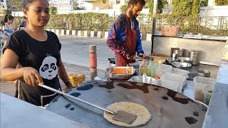Download Indian Lady Selling Delicious Parathas in Surat | Indian Street Food Video