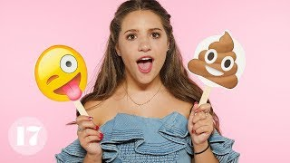Download Mackenzie Ziegler Reveals Her Most Embarrassing Stories Using Emojis | Seventeen Video