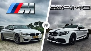 Download BMW M4 2017 vs Mercedes C63 AMG Coupe 2017 ACCELERATION & TOP SPEED POV Video