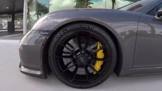 Download 2015 Agate Grey Porsche 911 GT3 475 hp @ Porsche West Broward Video