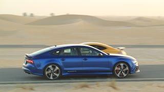 Download Audi RS7 test drive in Dubai Video