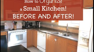 Download How to Organize a Small Kitchen - Before and After Video