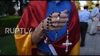 Download Spain: Catholics protest Ramadan prayers held by Virgin Mary statue in Granada Video