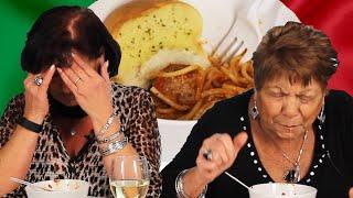 Download Italian Grandmas Try Frozen Pasta Video