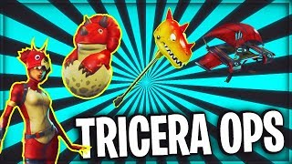 Download NEW Tricera Ops SKIN // Hatchling BACK BLING // Fossil Flyer // Bitemark AXE // FORTNITE Video
