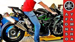 Download Kawasaki Ninja H2 No Dianamômetro Soltando Fogo Pelo Escapamento #topspeed 375 Video