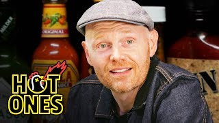 Download Bill Burr Gets Red in the Face While Eating Spicy Wings | Hot Ones Video