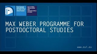 Download The Max Weber Programme for Postdoctoral Studies Video