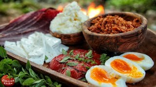 Download Ultimate Serbian Breakfast! - Tomato Steak + Coal Baked Egg + Delicacies Video