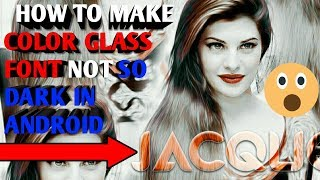Download How To Make Color Glass Font With Light Color in Android Part 2 !! PixelLab App, PS Touch App !! Video