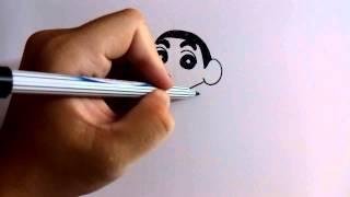 Download วาดการ์ตูน กันเถอะ | สอนวาดการ์ตูน ชินจังจอมแก่น ง่ายๆ | หัดวาดตามได้ Video