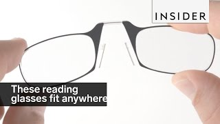 Download These reading glasses fit anywhere Video