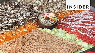 Download Giant Meat Platter and Other Meat Street Event Dishes Video