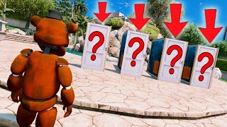 Download WITHERED FREDDY DON'T PICK THE WRONG DOOR OR YOU'LL DIE! (GTA 5 Mods For Kids FNAF Funny Moments) Video