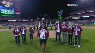 Download Cast of Glee singing the Star Spangled Banner! Video