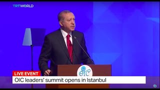 Download Turkish President Erdogan speaks at the OIC leaders' summit in Istanbul Video