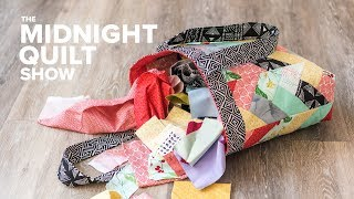 Download A QUILTED TOTE BAG Challenge with The Crafty Gemini!   Midnight Quilt Show Video