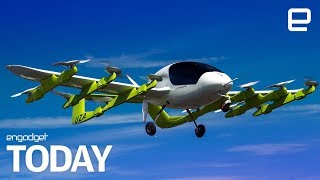 Download Larry Page-backed company unveils an electric flying taxi | Engadget Today Video