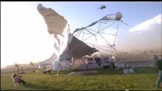 Download Wind Storm Destroys Awning @ Albuquerque Folk Festival Video