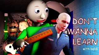 Download [SFM Baldi] Don't Wanna Learn (Baldi's Basics in Education And Learning Song) Video