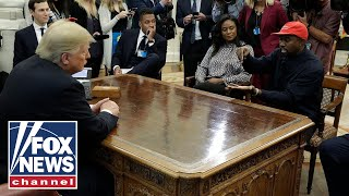 Download President Trump and Kanye West meet in Oval Office Video