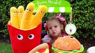 Download Stacy pretend play with magical toy food Video