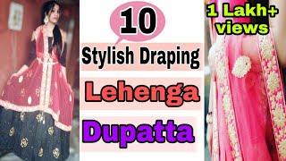 Download 10 Stylish Draping Lehenga Dupatta - Must Try   wear lehenga perfectly in wedding   NeshaFashion Video
