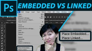 Download What is Place embedded vs Place Linked in Photoshop CC 2018. Video