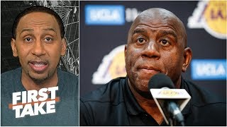 Download Magic Johnson 'feels betrayed by folks within the Lakers organization' - Stephen A. | First Take Video