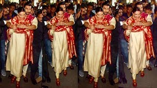 Download Ranveer Singh Shows LOVE & Care For Wife Deepika Padukone By Protecting From FANS & Media At Airport Video