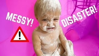 Download TWIN BABIES VS FLOUR OBSTACLE COURSE CHALLENGE! Video