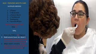 Download 2019 PEARSON VUE - PROVIDES MOUTH CARE Video