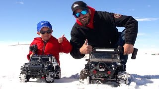 Download RC ADVENTURES - NEW Driver MOE Trails w/ Dad in SNOW! #ProudParenting - Traction & Traxxas Video