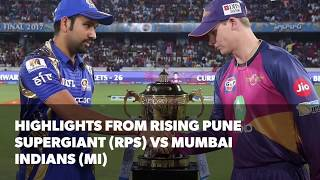 Download IPL 2017 Final: Highlights of Rising Pune Supergiant (RPS) vs Mumbai Indians (MI) Video
