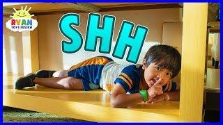 Download Best Hiding Spot in Disney Hotel! | Hide and Seek Pretend Play with Ryan!!! Video