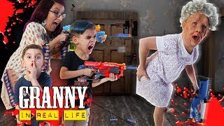 Download GRANNY In Real Life! NERF Hide And Seek Survival (FUNhouse Family) Video