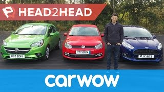 Download Ford Fiesta vs Volkswagen Polo vs Vauxhall Corsa 2016 review | Head2head Video