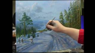 Download Зимний пейзаж В. Жданова. Тянущий грунт. Video