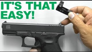 Download It's THAT Easy!!! Replacing Rear Sight with Red Dot Sight Mount - Vortex Venom installed on Glock Video