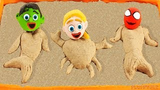 Download Superhero Baby Spiderman Hulk Sandbox Mermaid Playtime Play Doh Cartoons Stop Motion Kids Animations Video