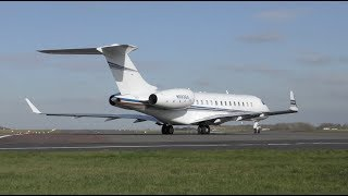 Download The Best Business Jet Ever! Short fast powerful takeoff Flight to Bern Bombardier Global Express Video