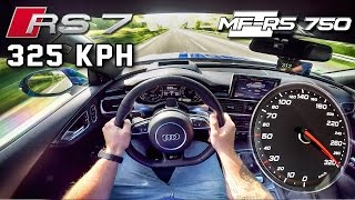 Download Audi RS7 750 HP AUTOBAHN POV 325 km/h ACCELERATION & TOP SPEED by AutoTopNL Video