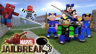 Download Monster School : MARVEL'S SPIDER-MAN VS JAILBREAK GRANNY , BALDI'S , GRANDPA - Minecraft Animation Video