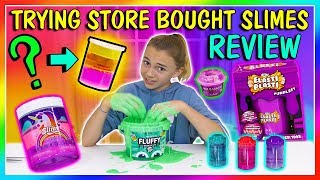 Download TESTING STORE BOUGHT SLIMES | STASH OR TRASH | We Are The Davises Video