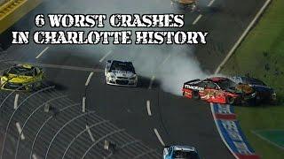 Download Top 6 Worst Nascar Crashes at Charlotte Motor Speedway Video