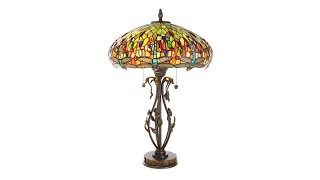 Download Dale Tiffany Dragonfly with Jewel TiffanyStyle Lamp Video