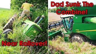 Download Near Disasters on the Farm with Combine and Tractor Video