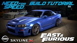 Download Need for Speed 2015 | Fast & Furious Brian's Nissan Skyline Build Tutorial | How To Make Video