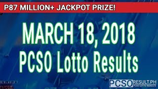 Download PCSO Lotto Results Today March 18, 2018 (6/58, 6/49, Swertres, STL & EZ2) Video
